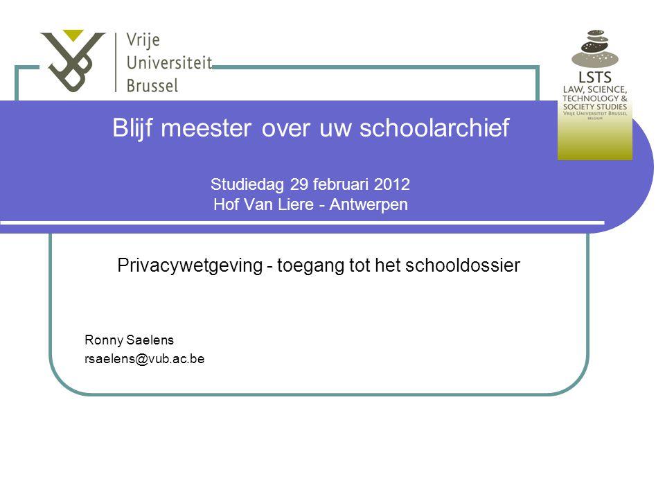 Privacywetgeving - toegang tot het schooldossier