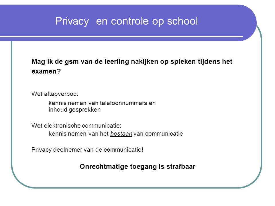 Privacy en controle op school