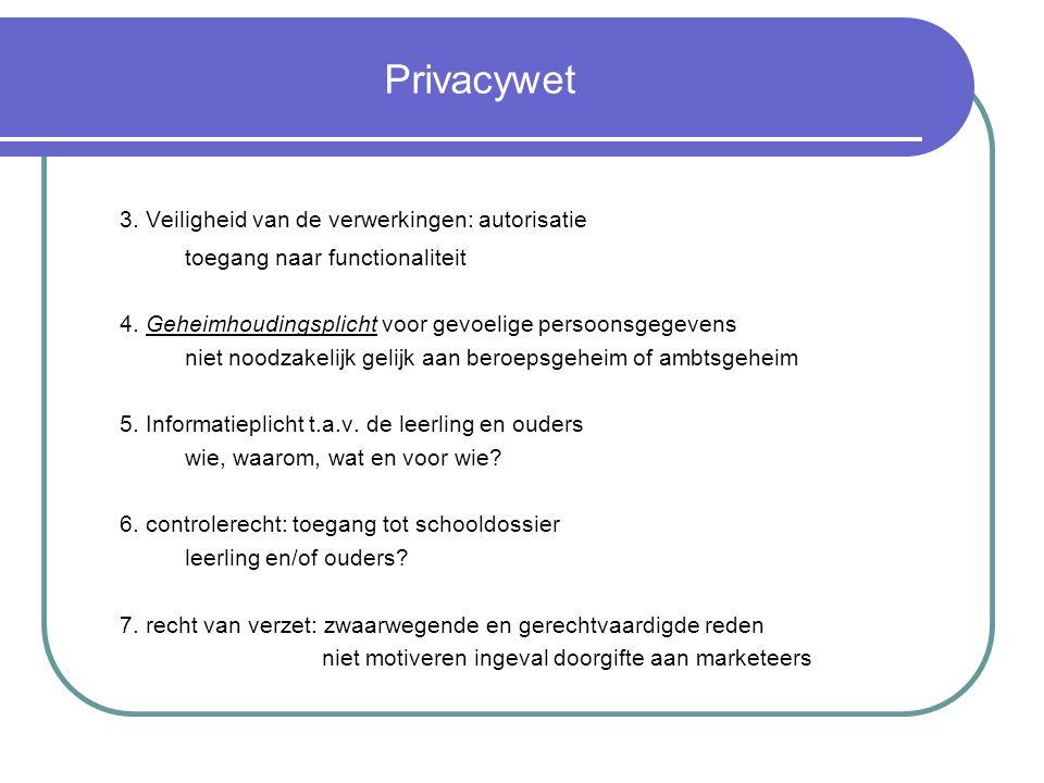3. Veiligheid van de verwerkingen: autorisatie
