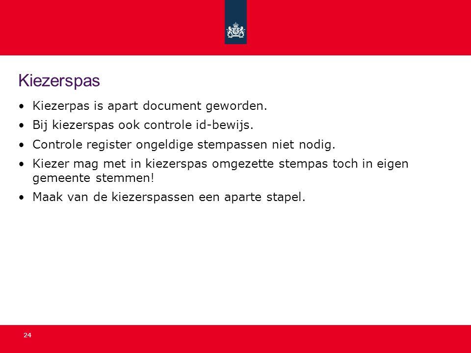 Kiezerspas Kiezerpas is apart document geworden.