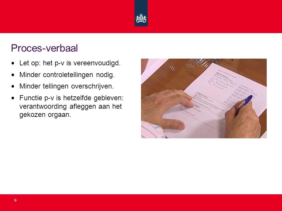 Proces-verbaal Let op: het p-v is vereenvoudigd.