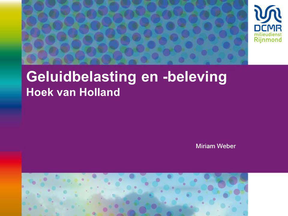 Geluidbelasting en -beleving Hoek van Holland