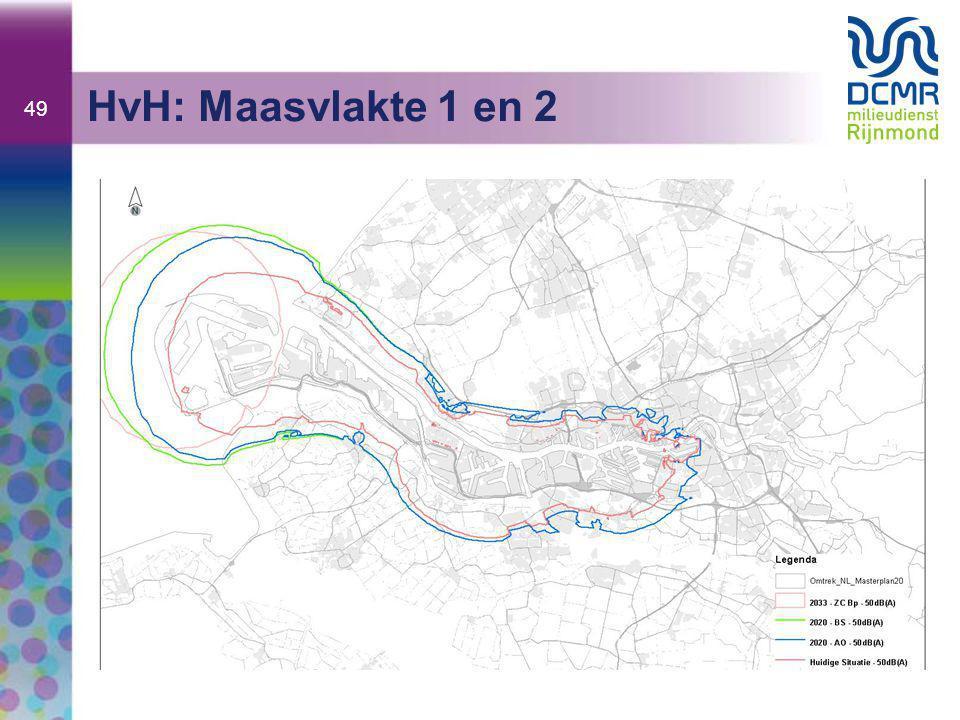 HvH: Maasvlakte 1 en 2 Legenda: ZC = zonecontour MV2 BS = Basis Scenario AO = Autonome Ontwikkelingen (die wordt bepaald MV1 en Europoort)