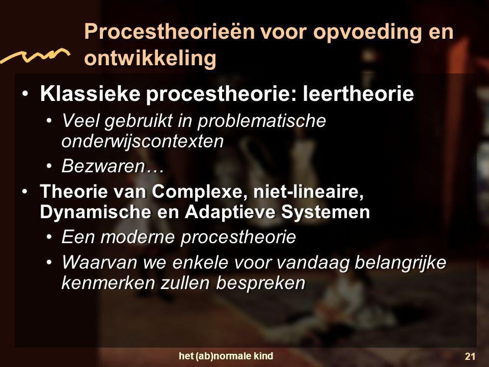 Procestheorieën voor opvoeding en ontwikkeling