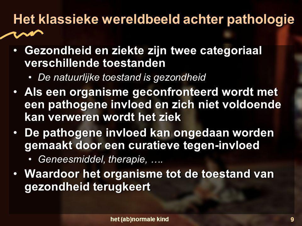 Het klassieke wereldbeeld achter pathologie