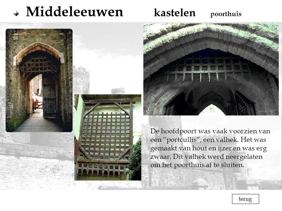 Middeleeuwen kastelen poorthuis