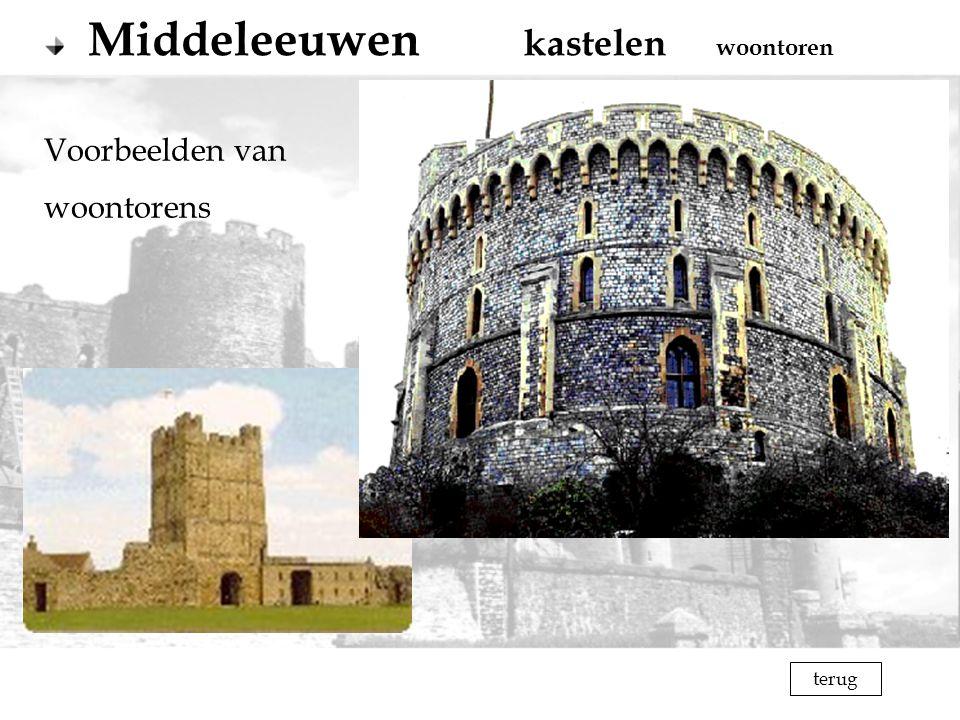 Middeleeuwen kastelen woontoren