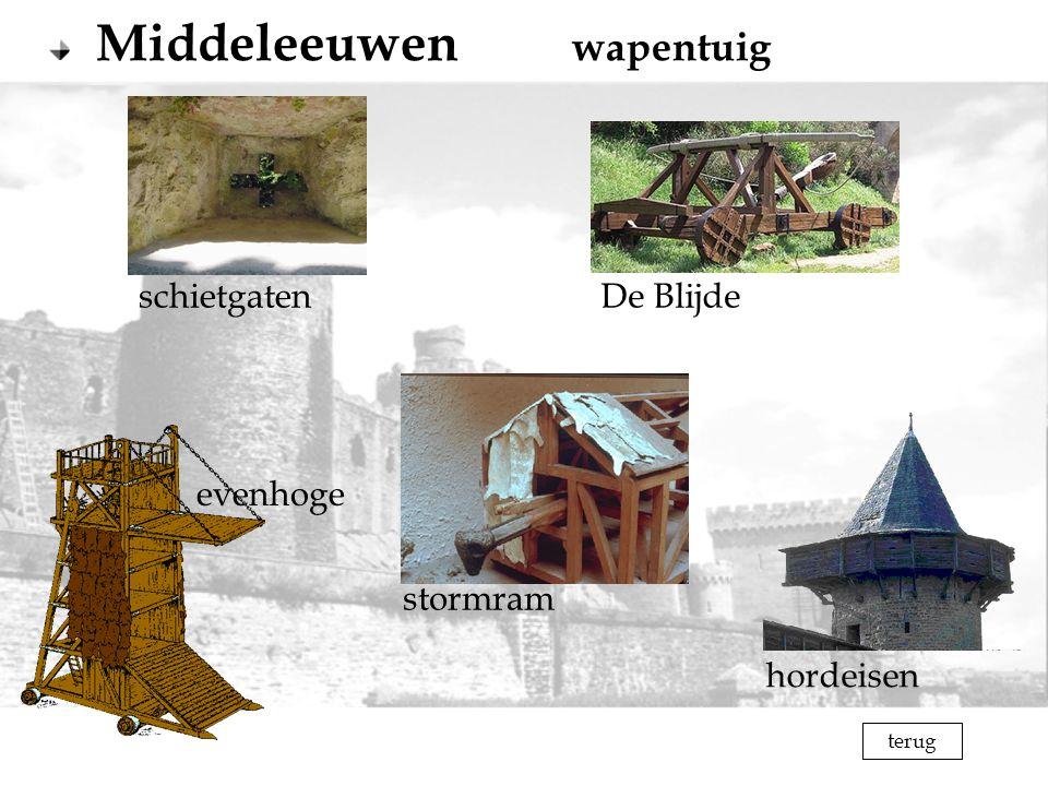 Middeleeuwen wapentuig
