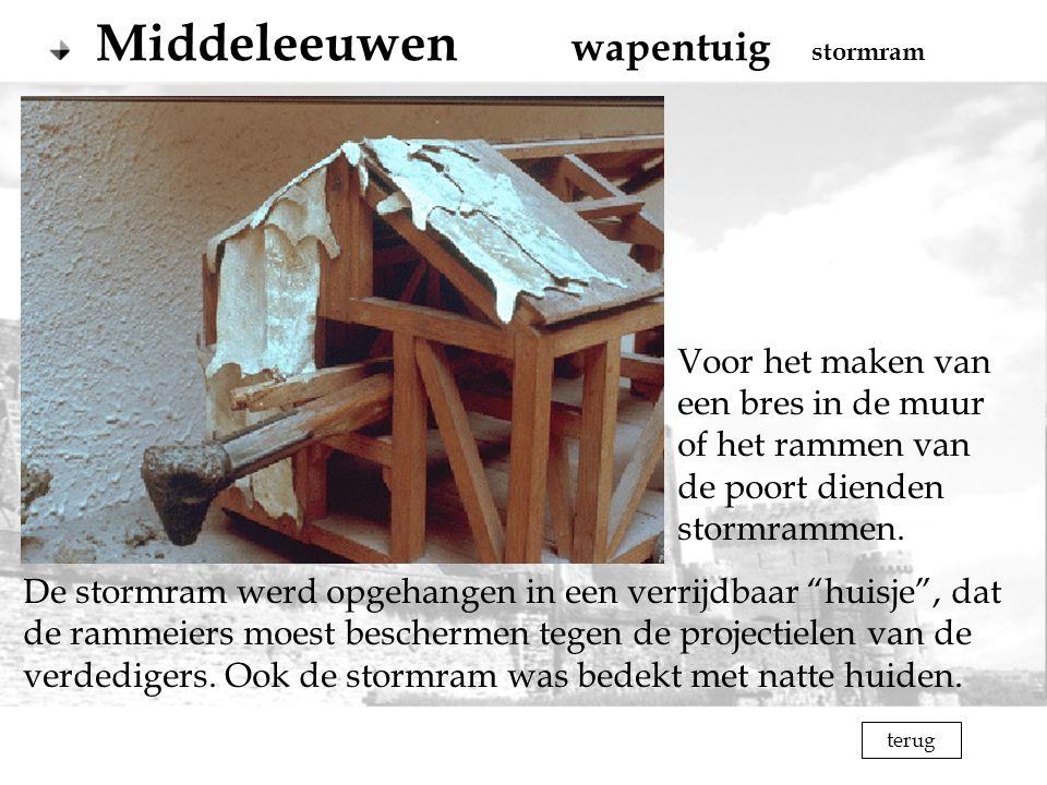 Middeleeuwen wapentuig stormram