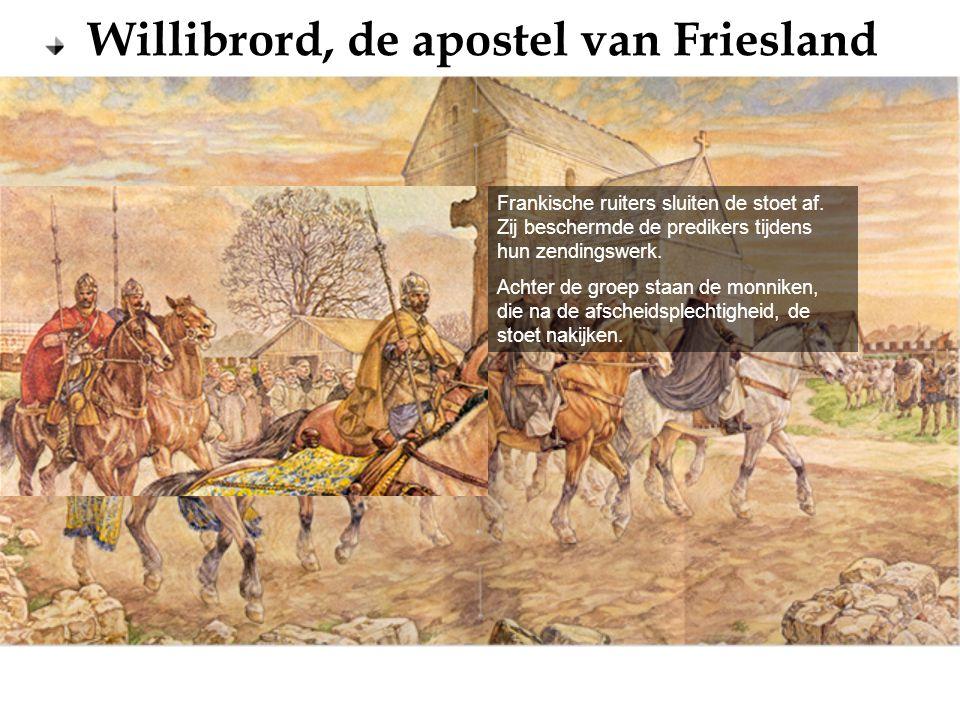 Frankische ruiters sluiten de stoet af
