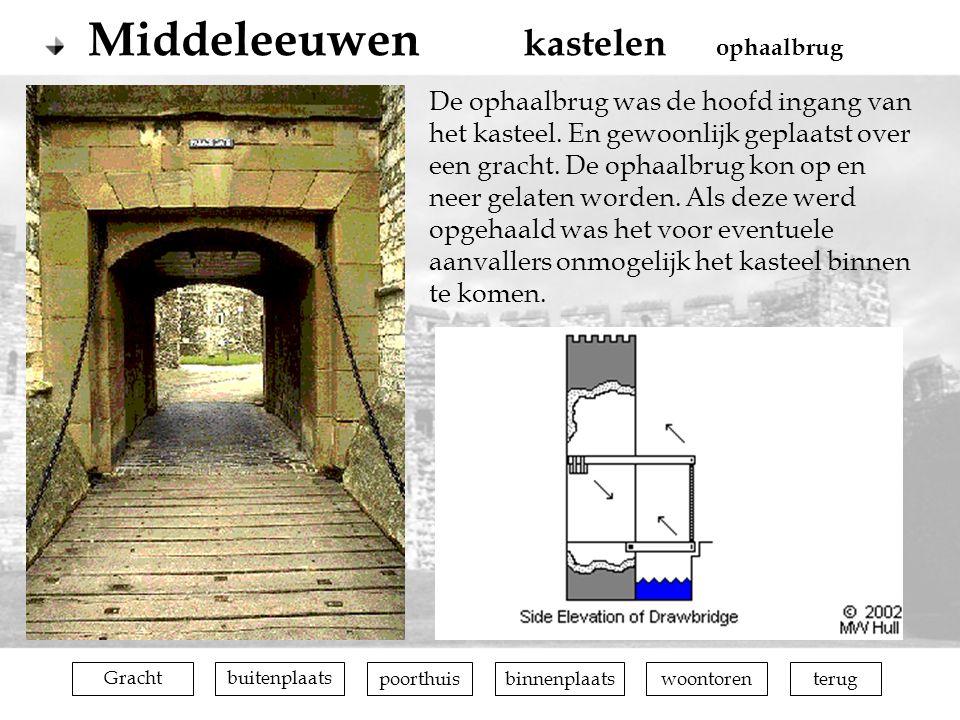Middeleeuwen kastelen ophaalbrug