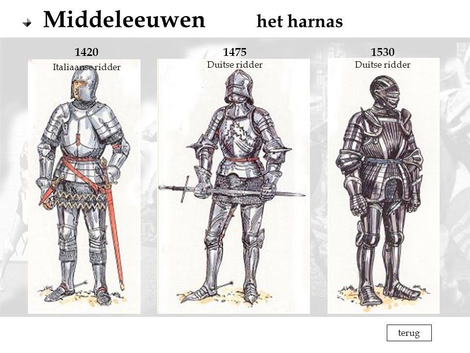 1420 Italiaanse ridder 1475 Duitse ridder 1530 Duitse ridder terug