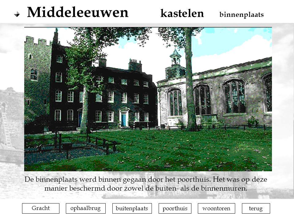 Middeleeuwen kastelen binnenplaats