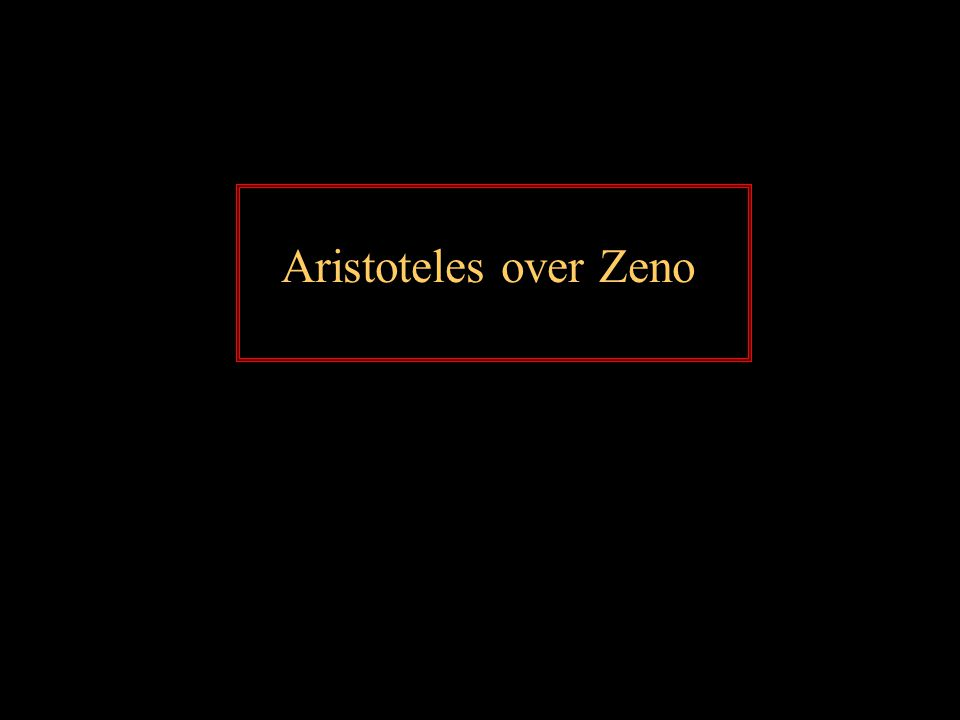 Aristoteles over Zeno