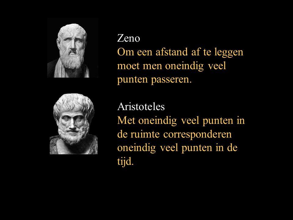 Zeno Om een afstand af te leggen moet men oneindig veel punten passeren. Aristoteles.