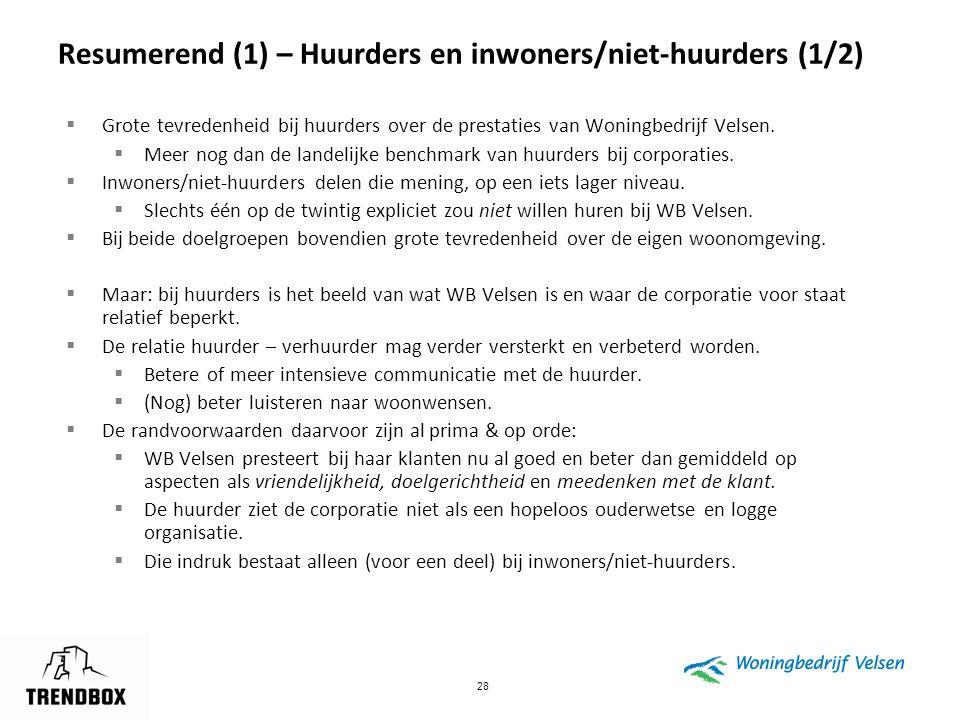 Resumerend (1) – Huurders en inwoners/niet-huurders (1/2)