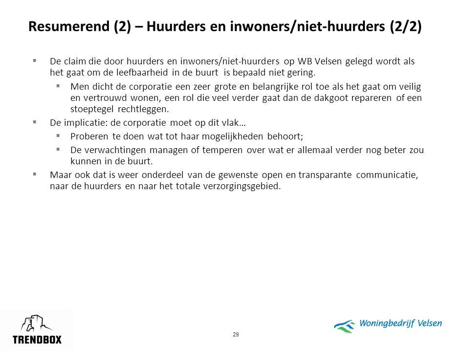Resumerend (2) – Huurders en inwoners/niet-huurders (2/2)