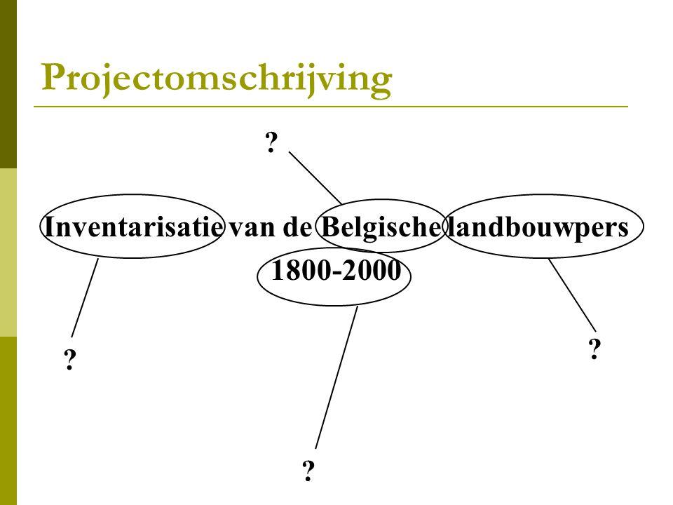 Inventarisatie van de Belgische landbouwpers