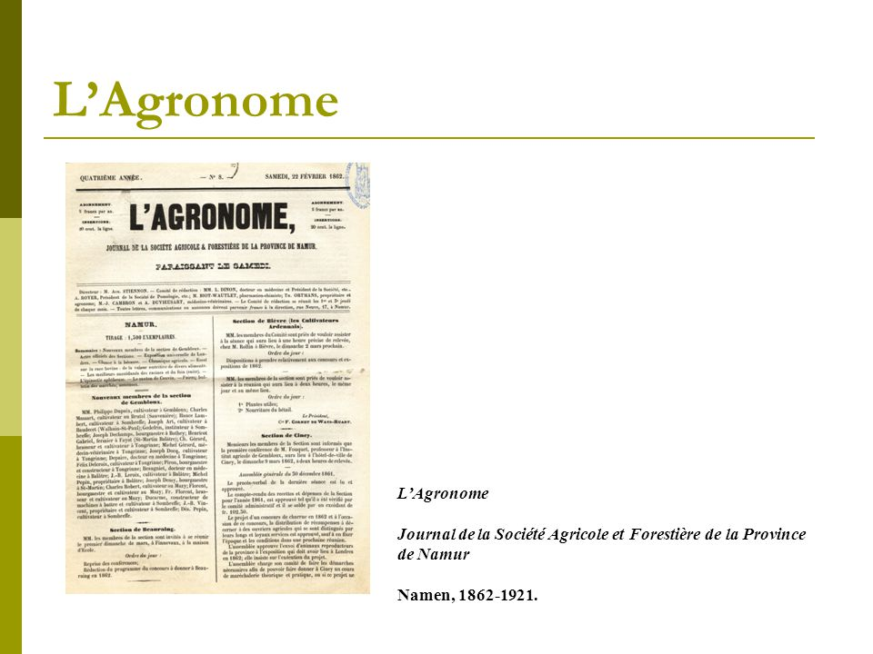 L'Agronome L'Agronome