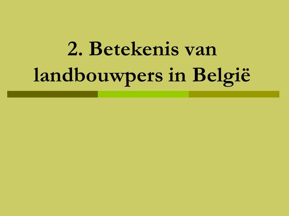 2. Betekenis van landbouwpers in België