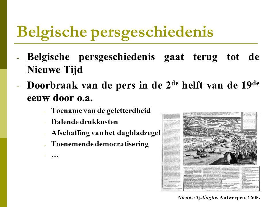 Belgische persgeschiedenis