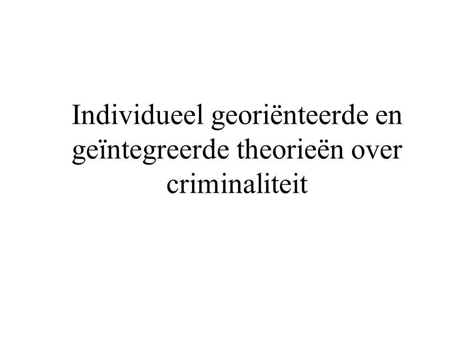 Individueel georiënteerde en geïntegreerde theorieën over criminaliteit