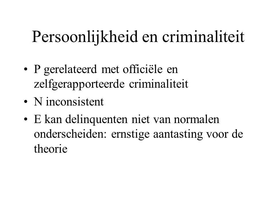Persoonlijkheid en criminaliteit