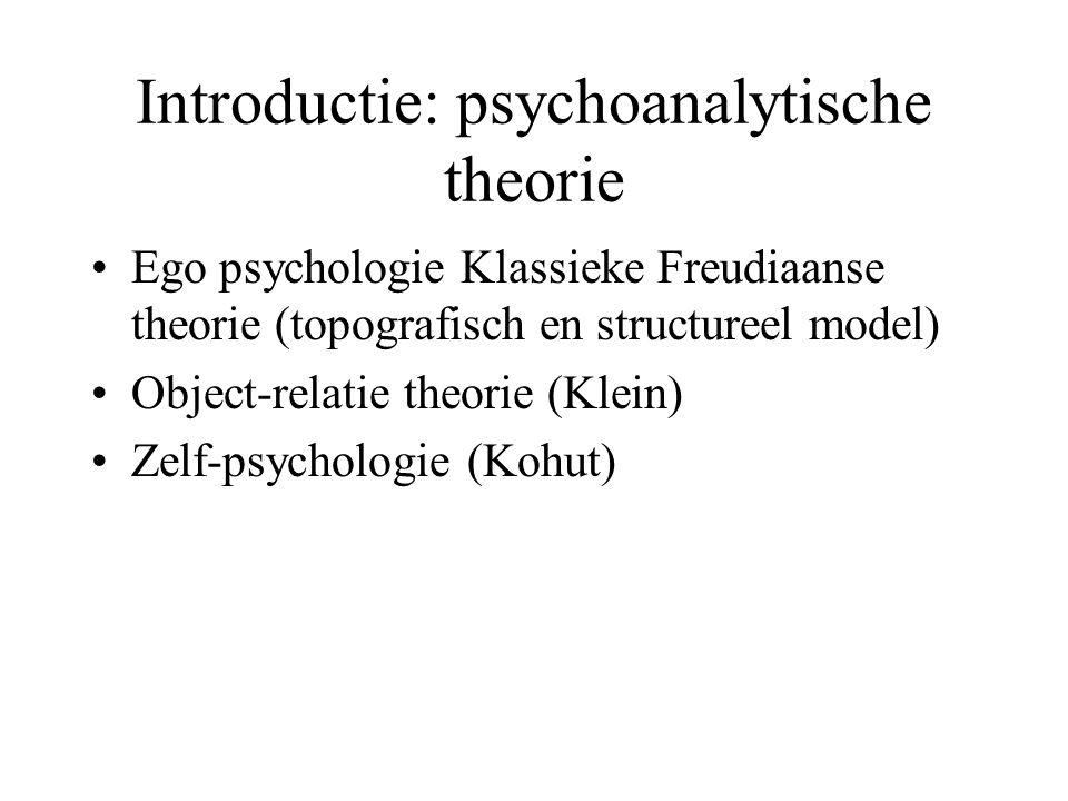 Introductie: psychoanalytische theorie