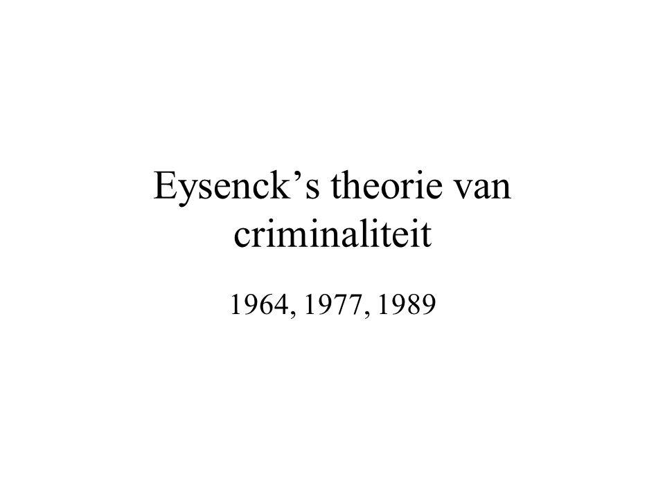 Eysenck's theorie van criminaliteit