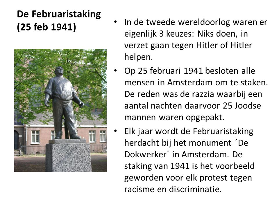 De Februaristaking (25 feb 1941)