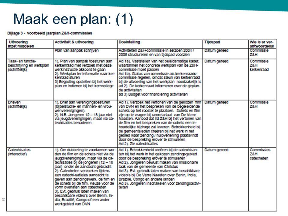 Maak een plan: (1) Deel nu de handboeken uit en bespreek bijlage 3.
