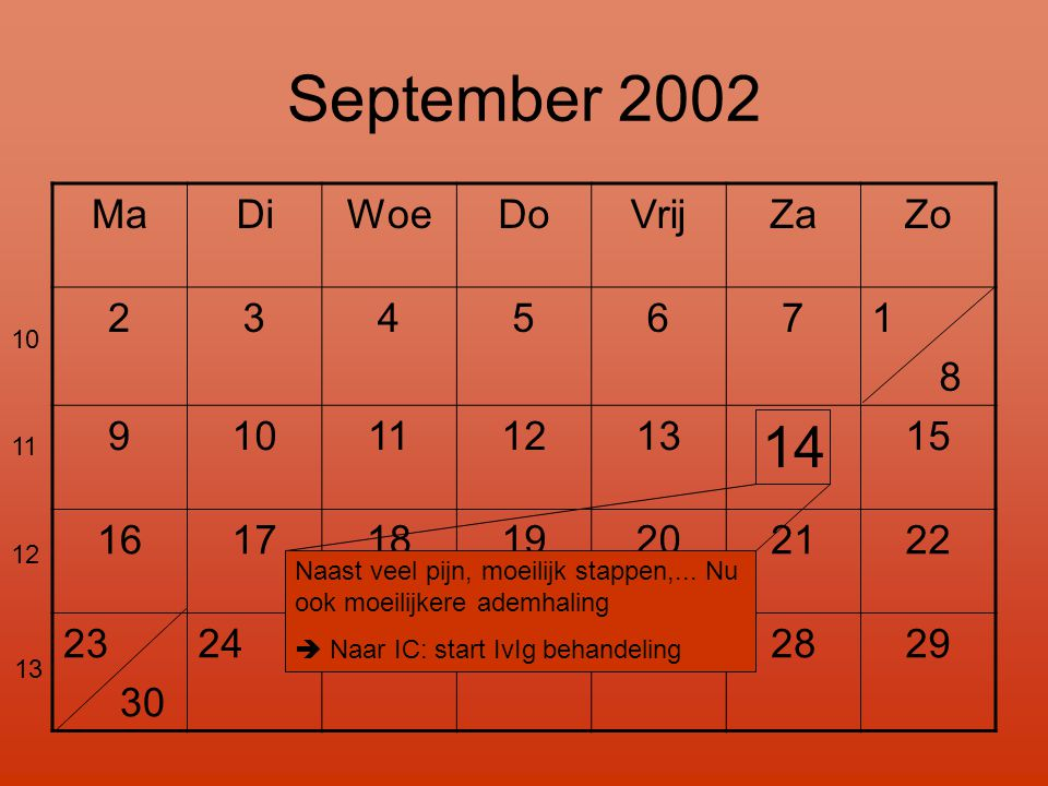 September 2002 14 Ma Di Woe Do Vrij Za Zo 2 3 4 5 6 7 1 8 9 10 11 12