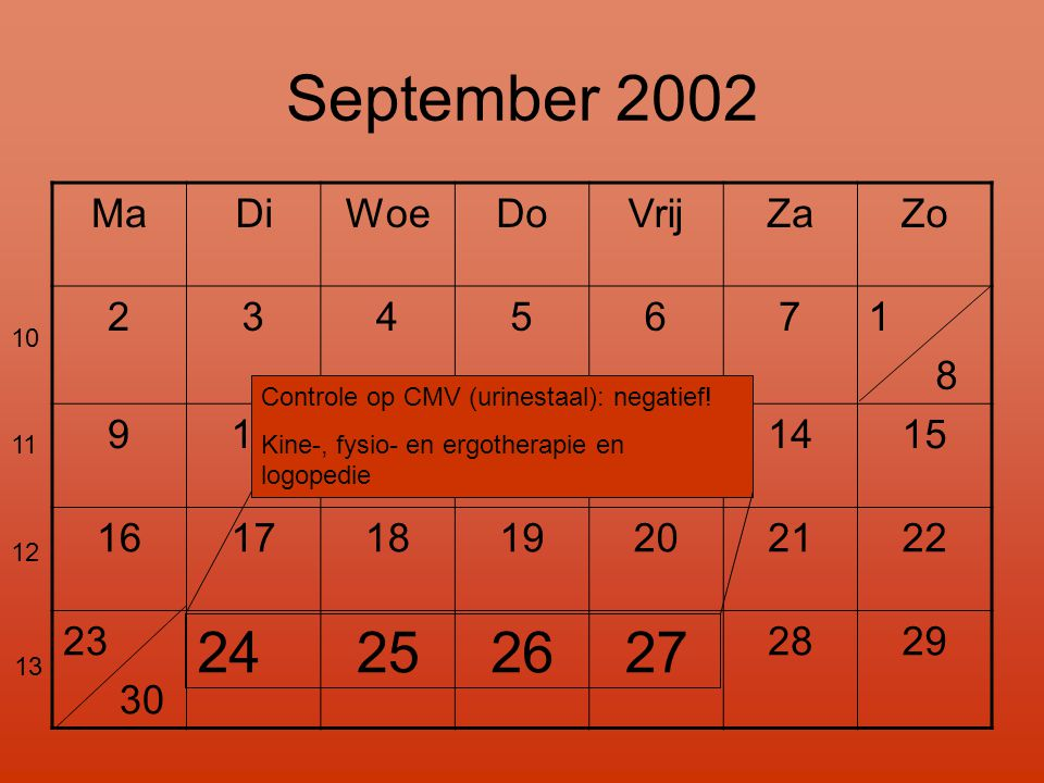 September 2002 24 25 26 27 Ma Di Woe Do Vrij Za Zo 2 3 4 5 6 7 1 8 9