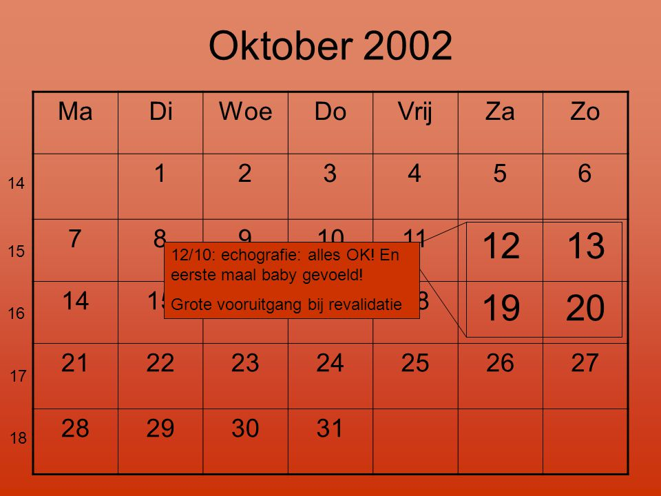 Oktober 2002 12 13 19 20 Ma Di Woe Do Vrij Za Zo 1 2 3 4 5 6 7 8 9 10