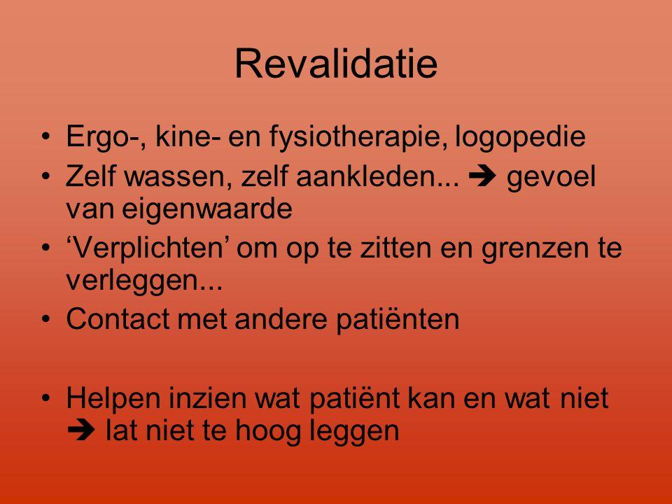 Revalidatie Ergo-, kine- en fysiotherapie, logopedie