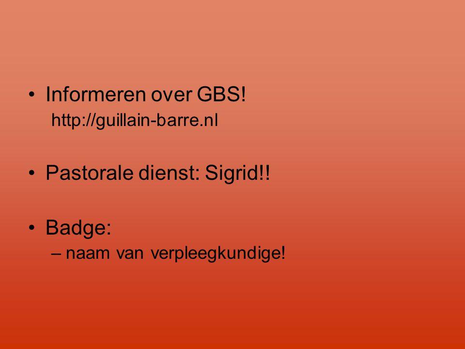 Pastorale dienst: Sigrid!! Badge: