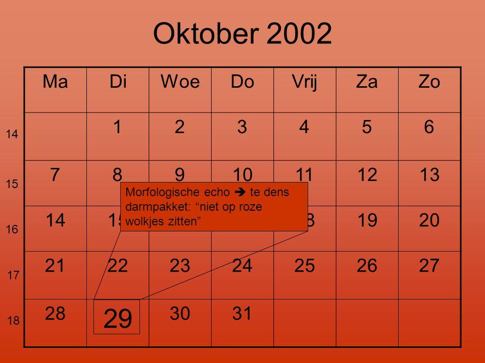 Oktober 2002 29 Ma Di Woe Do Vrij Za Zo 1 2 3 4 5 6 7 8 9 10 11 12 13