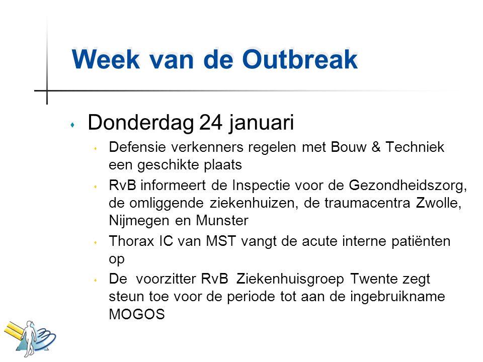 Week van de Outbreak Donderdag 24 januari