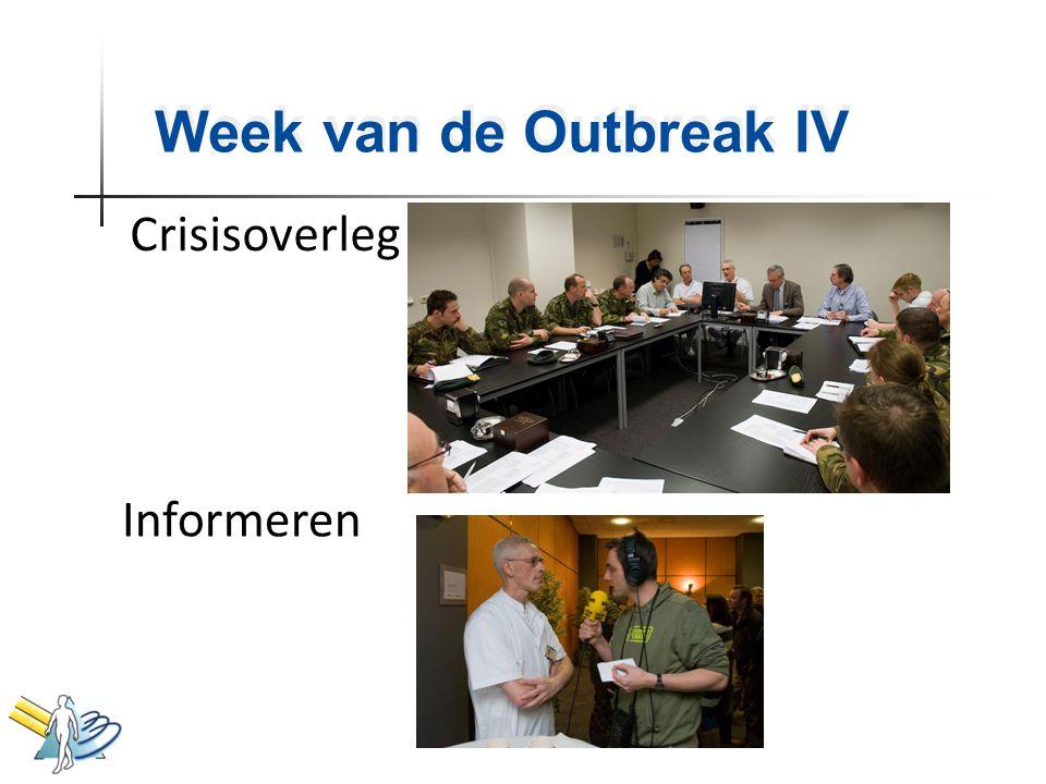 Week van de Outbreak IV Crisisoverleg Informeren