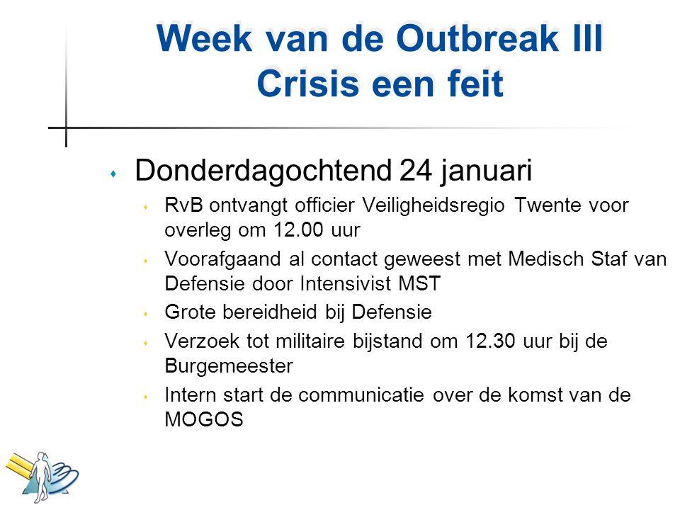 Week van de Outbreak III Crisis een feit