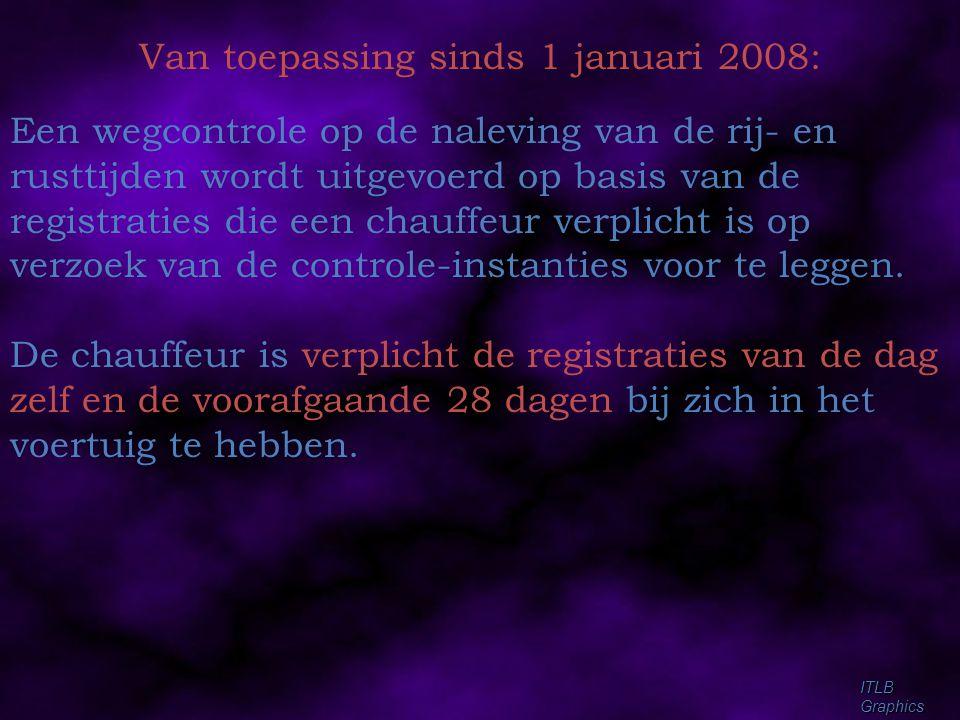 Van toepassing sinds 1 januari 2008: