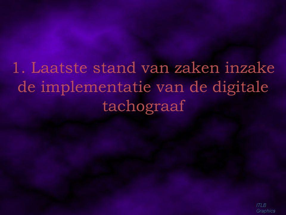 1. Laatste stand van zaken inzake de implementatie van de digitale tachograaf