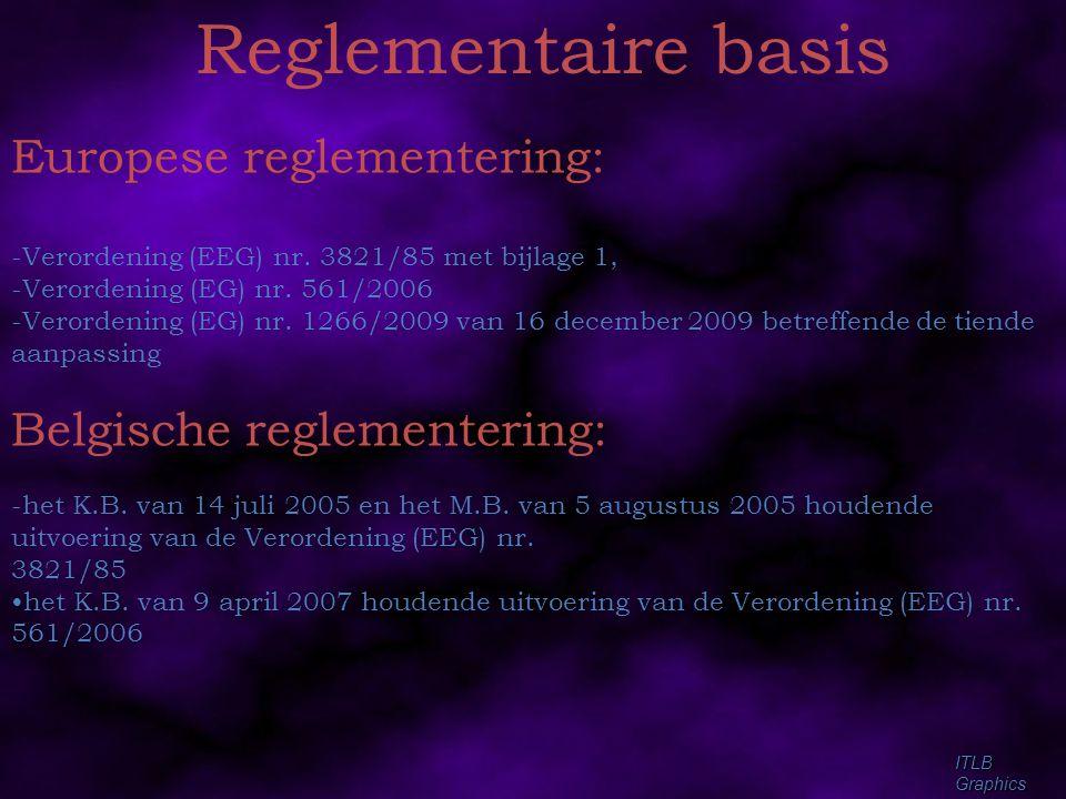 Reglementaire basis Europese reglementering: Belgische reglementering: