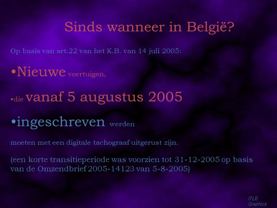 Sinds wanneer in België