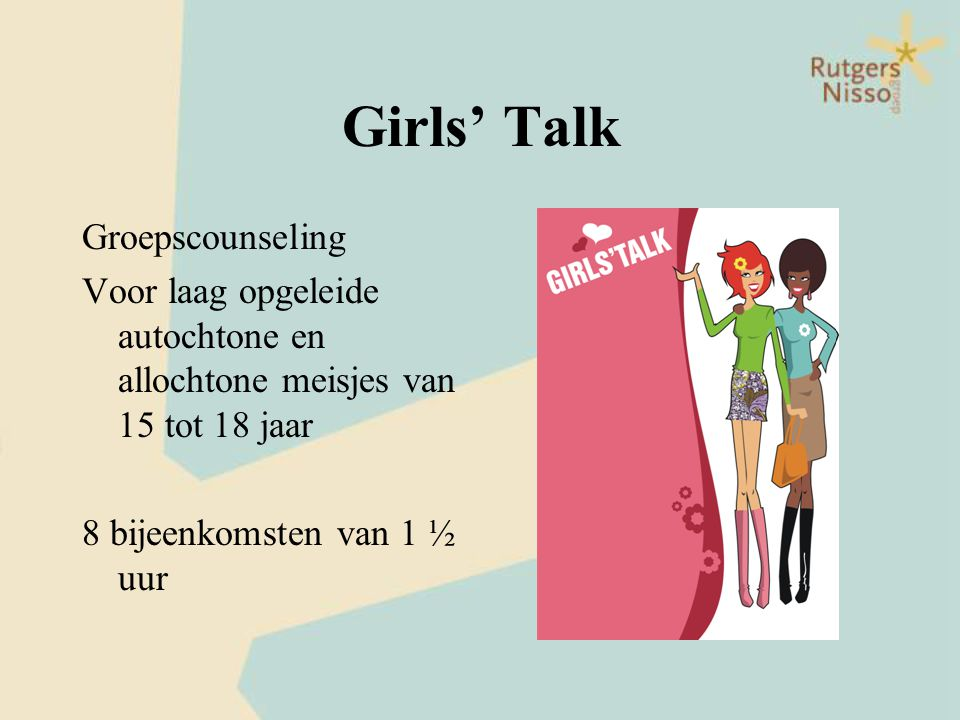 Girls' Talk Groepscounseling