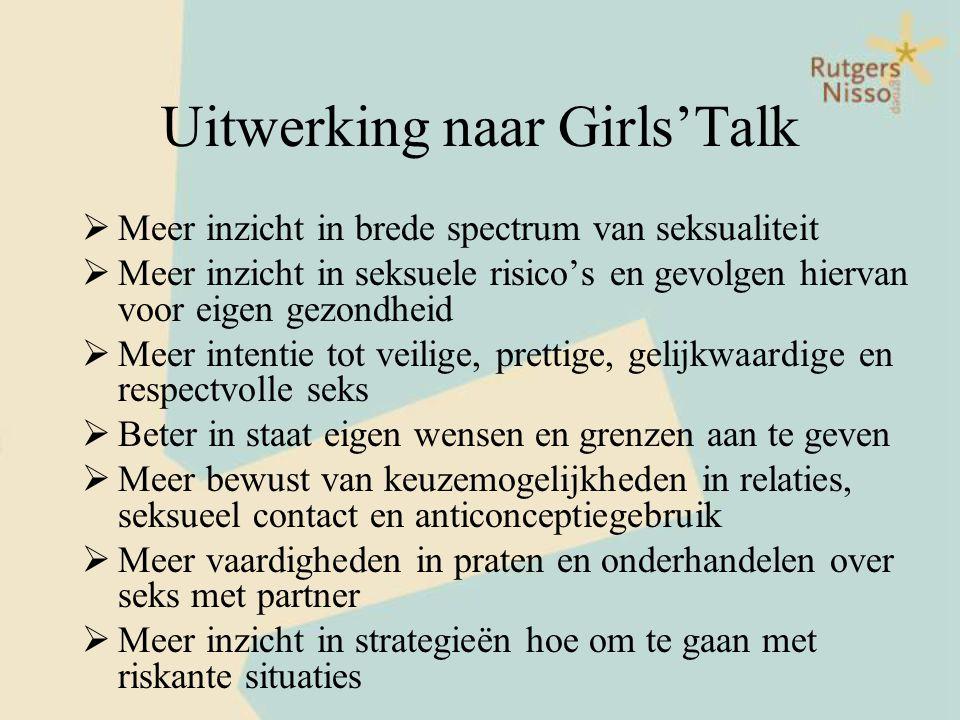 Uitwerking naar Girls'Talk