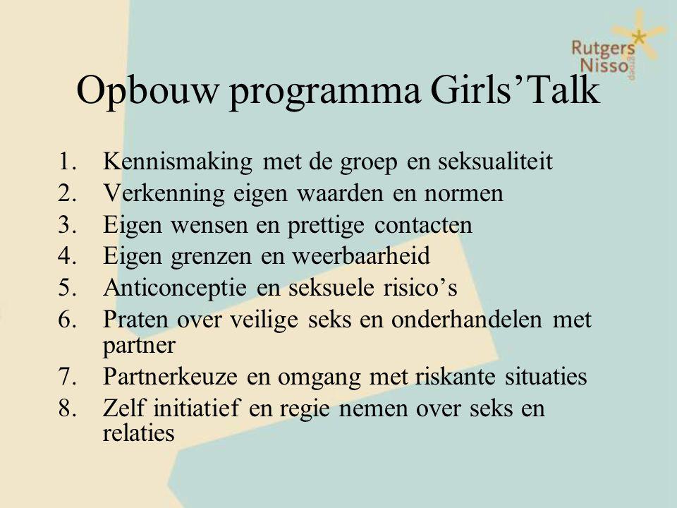 Opbouw programma Girls'Talk