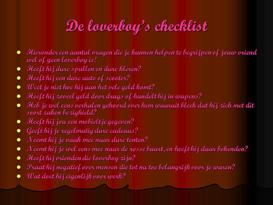 De loverboy's checklist