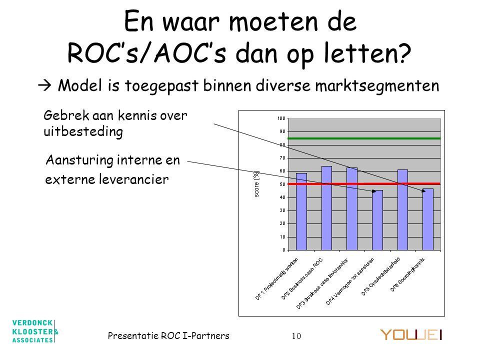 En waar moeten de ROC's/AOC's dan op letten
