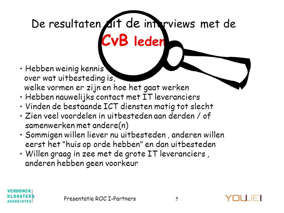 De resultaten uit de interviews met de CvB leden